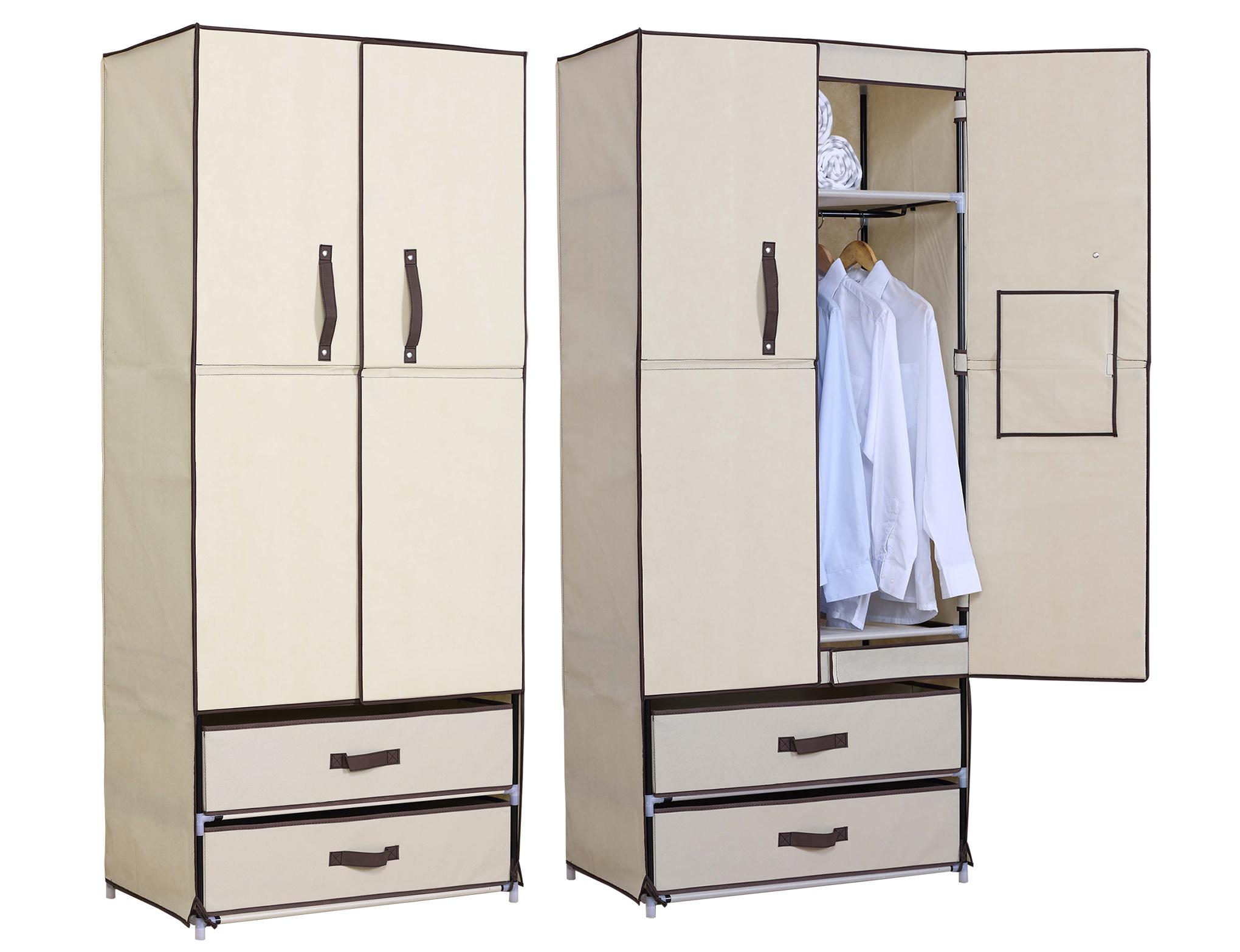 Kleiderschrank garderobenschrank stoff textil mit - Kleiderschrank stoff poco ...