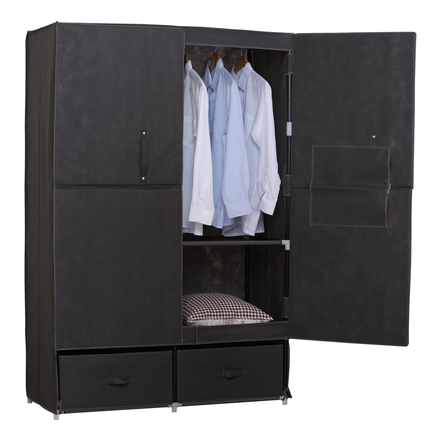 xxxl kleiderschrank stoff schrank garderobenschrank textil. Black Bedroom Furniture Sets. Home Design Ideas