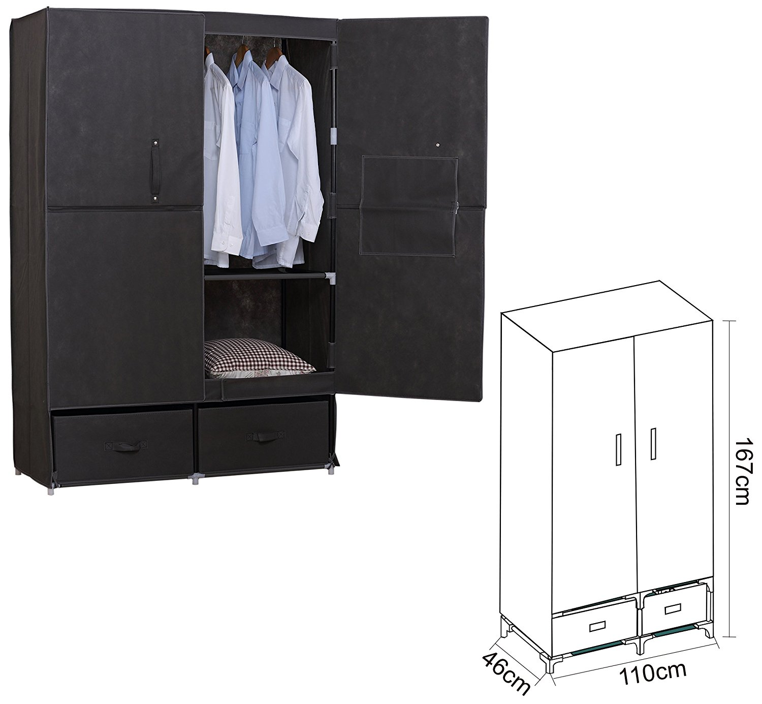 stoff schrank affordable with stoff schrank vitrine pure. Black Bedroom Furniture Sets. Home Design Ideas