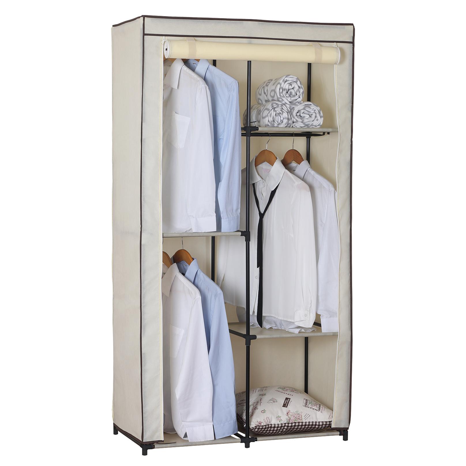 kleiderschrank garderobenschrank campingschrank faltschrank stoff schrank 173 1 ebay. Black Bedroom Furniture Sets. Home Design Ideas