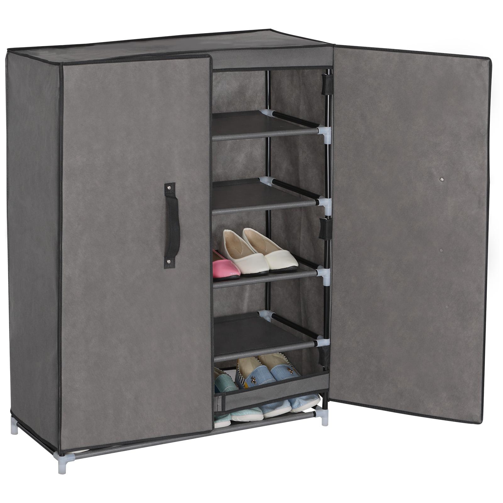 schuhschrank faltschrank schuhregal schuhst nder badregal stoff regal xxl 172. Black Bedroom Furniture Sets. Home Design Ideas