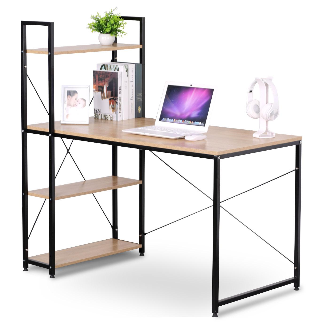 schreibtisch computertisch b rotisch mit b cherregal arbeitstisch esstisch 747 ebay. Black Bedroom Furniture Sets. Home Design Ideas