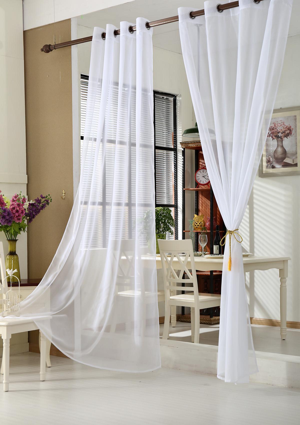 Gardinen Stores Vorhang Transparent ösen Schal Fensterschal Vorhänge