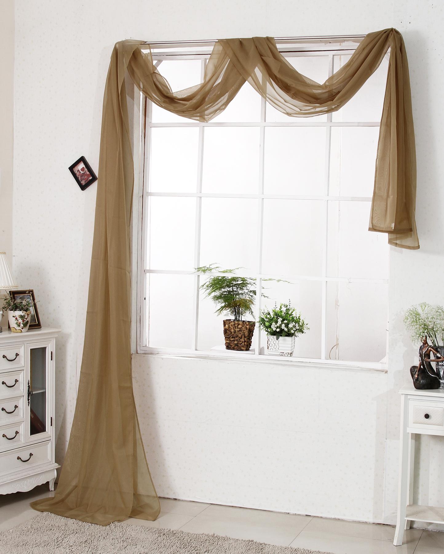 Querbehang bergardine gardine vorhang dekoschal for Fenster querbehang