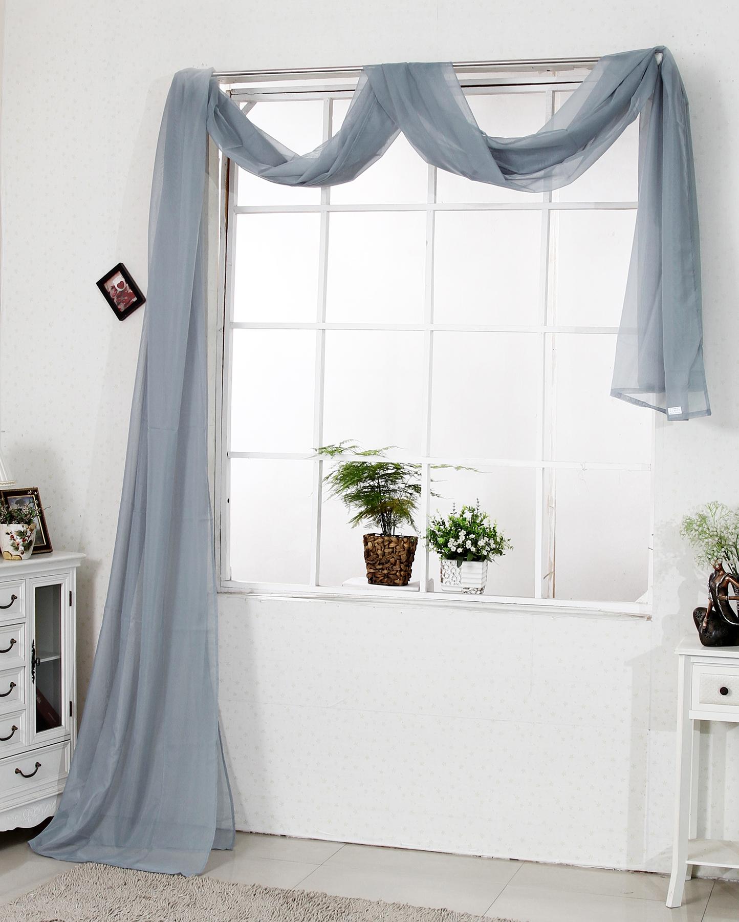 1 rideau cantonni re transparent pour fen tre taille 140x600 f083 ebay. Black Bedroom Furniture Sets. Home Design Ideas