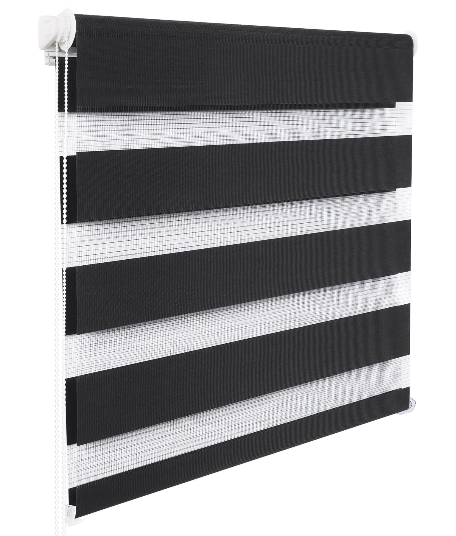 doppelrollo duo rollo klemmfix ohne bohren seitenzugrollo vario anthrazit 324 6. Black Bedroom Furniture Sets. Home Design Ideas