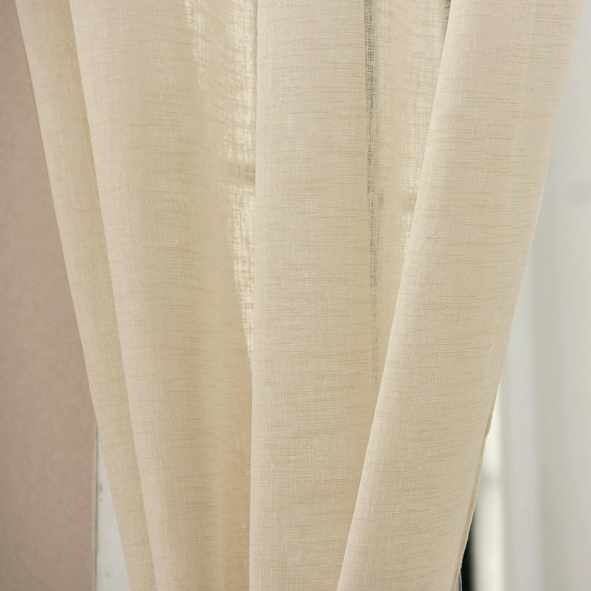 gardinen transparent leinen kr uselband stores vorhang schal 4 farben 630 a. Black Bedroom Furniture Sets. Home Design Ideas