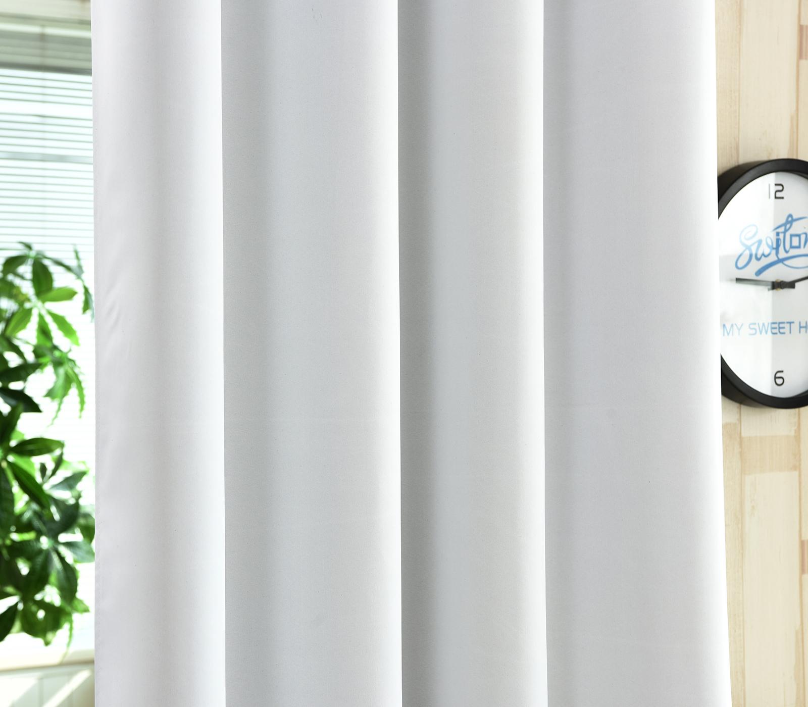 2er set gardine blickdicht senschal thermo vorhang 135x175cm weiss vh5867ws 2 ebay. Black Bedroom Furniture Sets. Home Design Ideas
