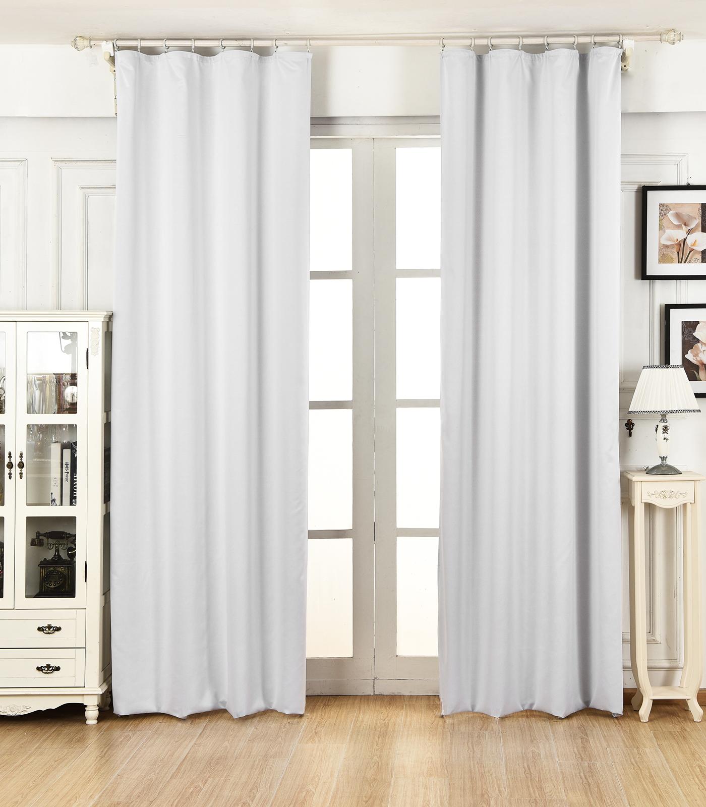 1 rideau occultant avec oeillets rideau thermique isolant f136 ebay for Rideau occultant isolant