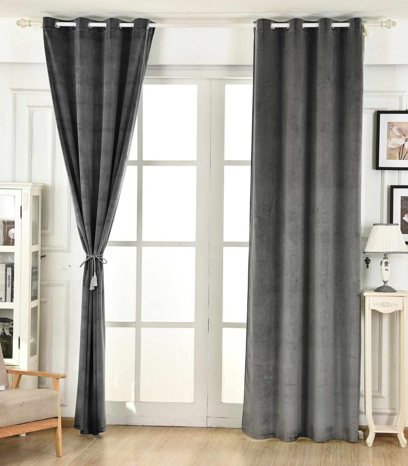 gardinen blickdicht thermogardine verdunklungsgardine sen beflockt vorhang 490. Black Bedroom Furniture Sets. Home Design Ideas