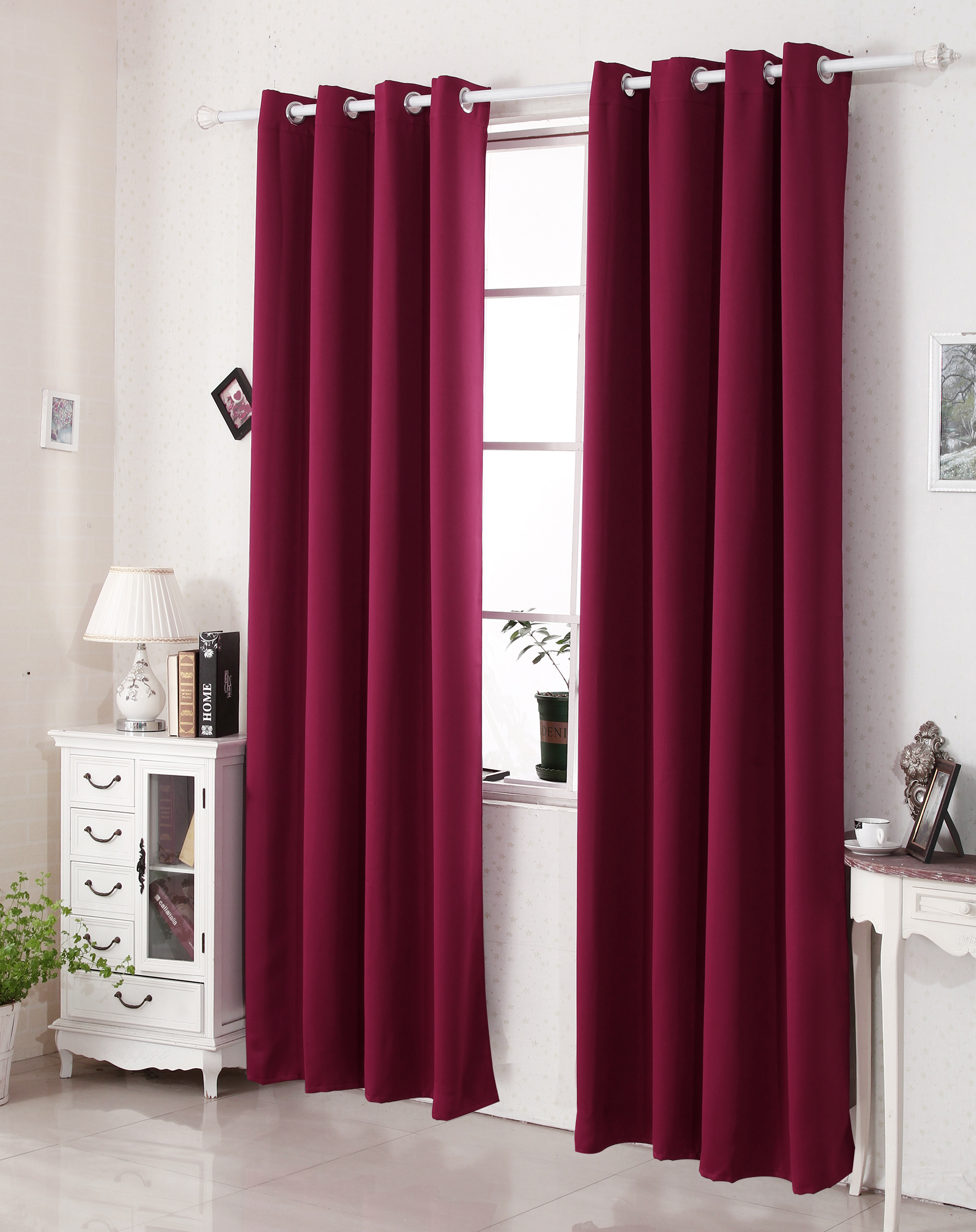 1 rideau opaque occultant oeillets rideau thermique isolant f084 ebay. Black Bedroom Furniture Sets. Home Design Ideas