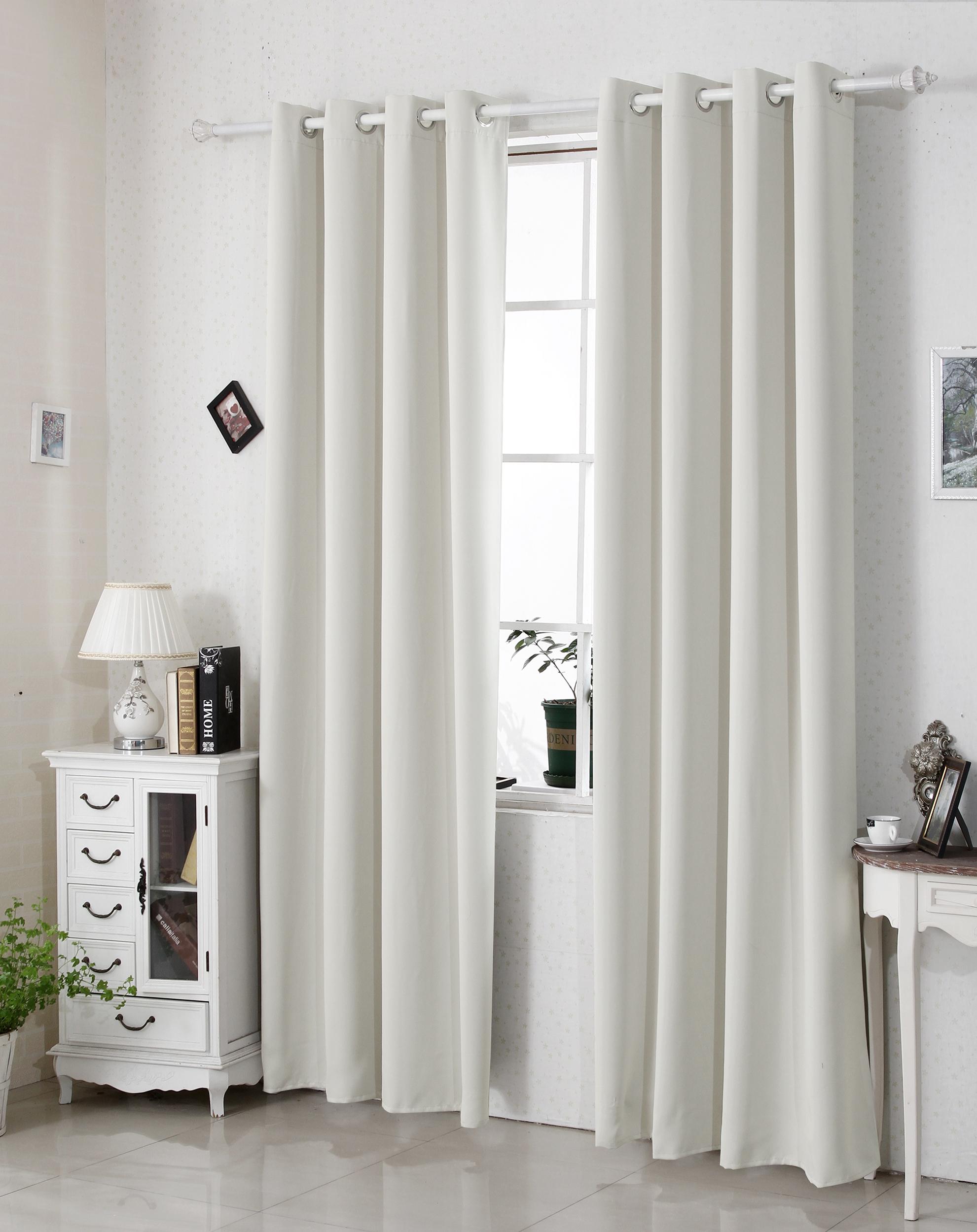 Gardine Blickdicht 2er Thermo Vorhang Mit ösen 135x225cm