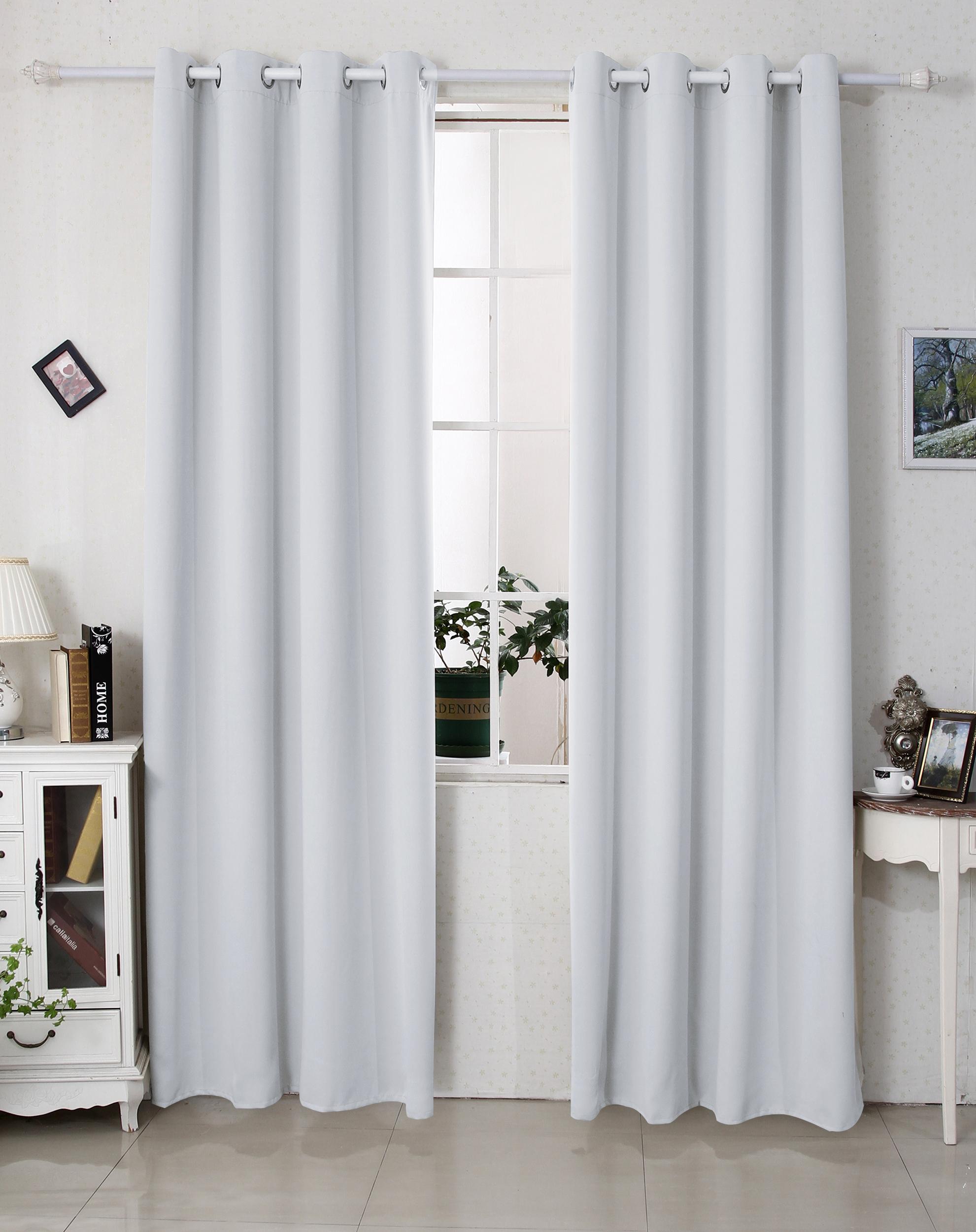 2er set gardine blickdicht thermo vorhang senschal. Black Bedroom Furniture Sets. Home Design Ideas