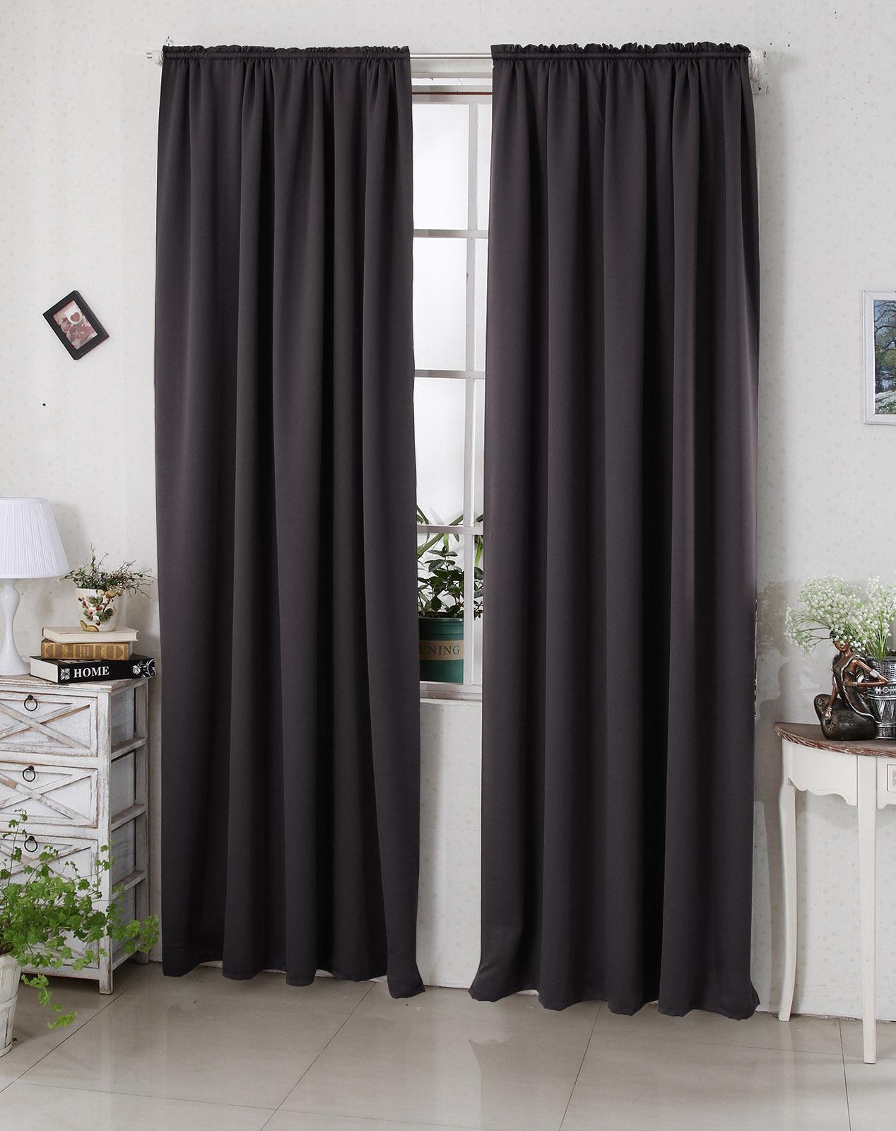 gardine vorhang blickdicht kr uselband thermogardine verdunkelungsgardine 330 ebay. Black Bedroom Furniture Sets. Home Design Ideas