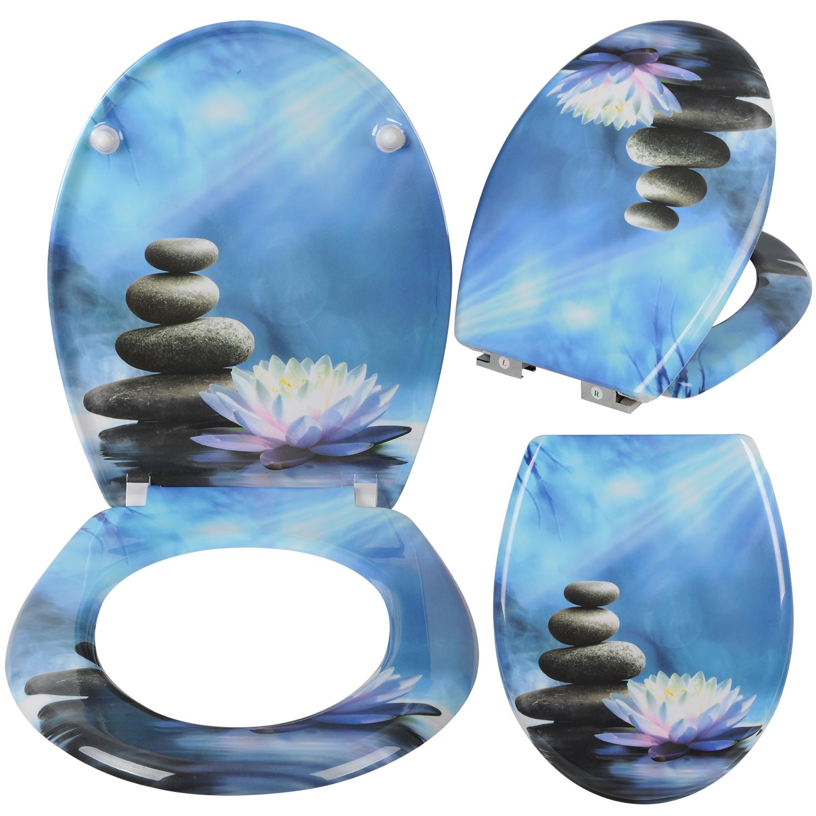 toilettensitz wc sitz klodeckel klobrille wc deckel toilettendeckel blau 165 ebay. Black Bedroom Furniture Sets. Home Design Ideas
