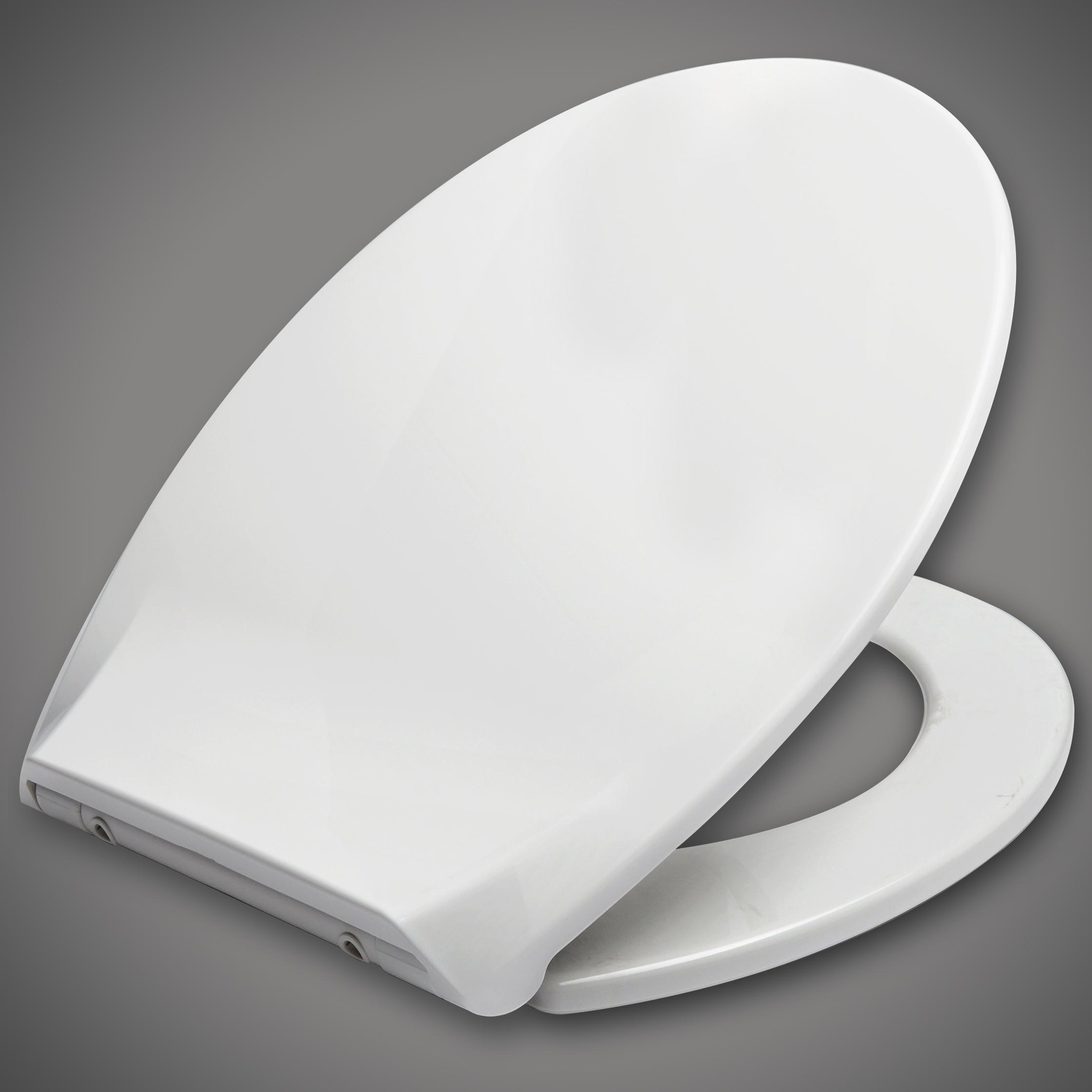 toilettendeckel wc sitz klodeckel mit absenkautomatik toilettenbrille wei 62 1 ebay. Black Bedroom Furniture Sets. Home Design Ideas