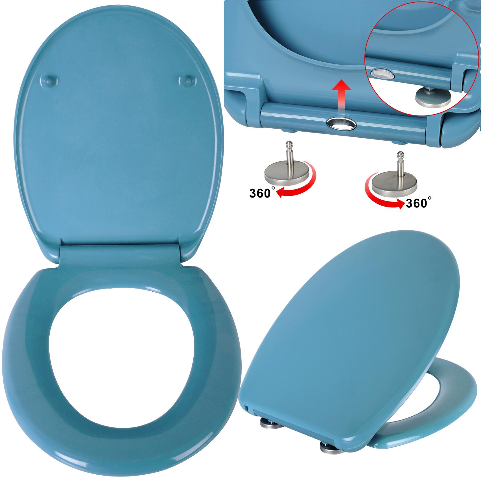 wc sitz toilettensitz toilettendeckel duroplast absenkautomatik klodeckel ws2594 ebay. Black Bedroom Furniture Sets. Home Design Ideas