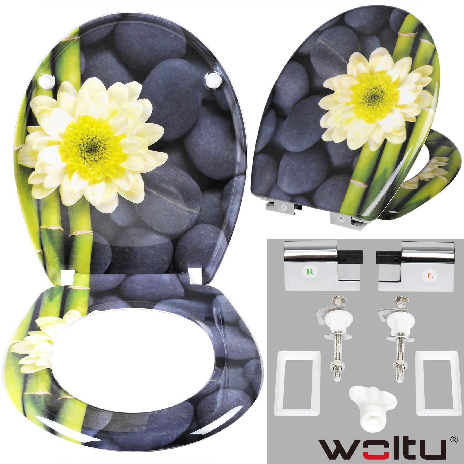 toilettensitz toilettendeckel wc sitz softclose wc deckel klodeckel blumen 164 ebay. Black Bedroom Furniture Sets. Home Design Ideas