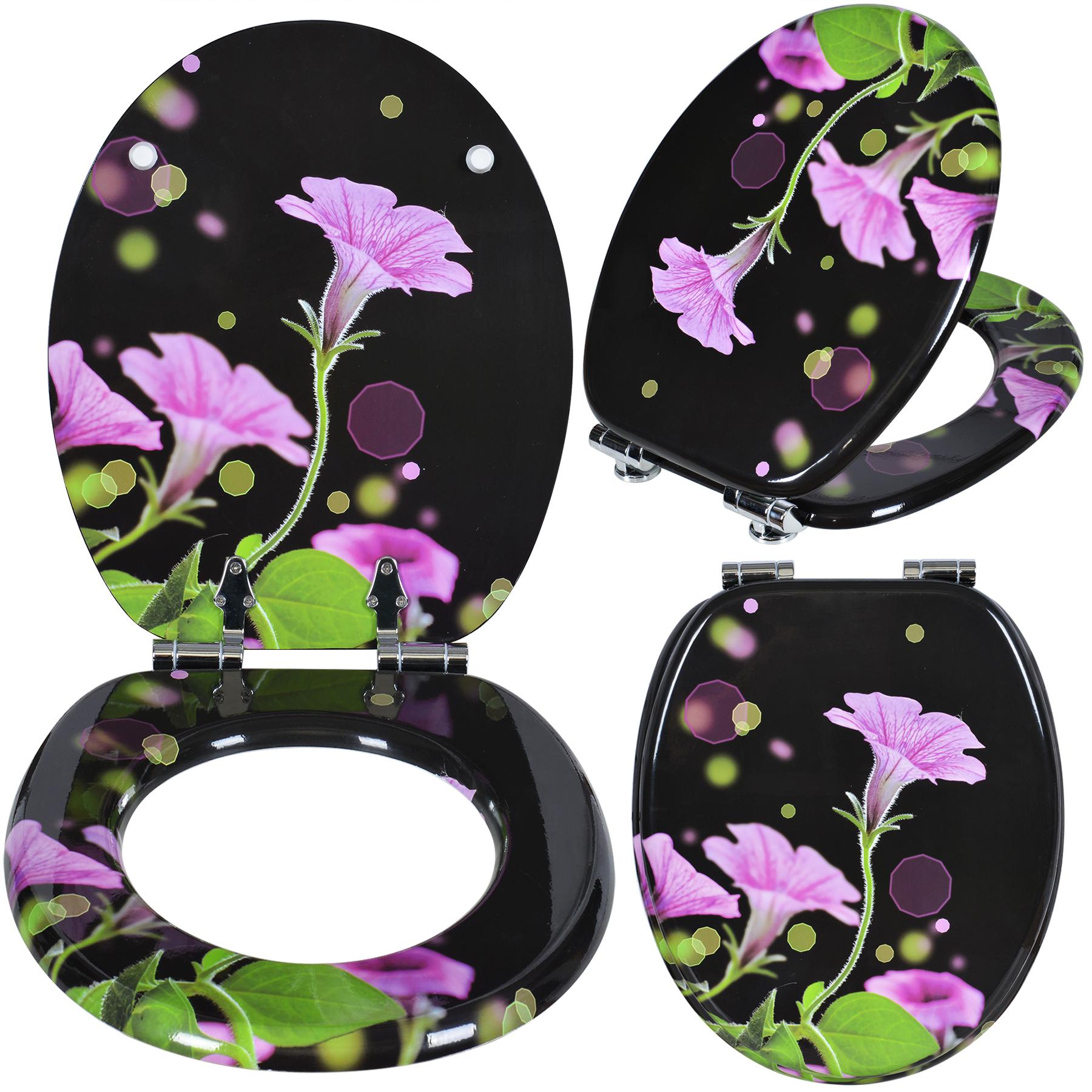 wc sitz toilettensitz toilettenbrille wc deckel klodeckel toiletten blumen 164 ebay. Black Bedroom Furniture Sets. Home Design Ideas