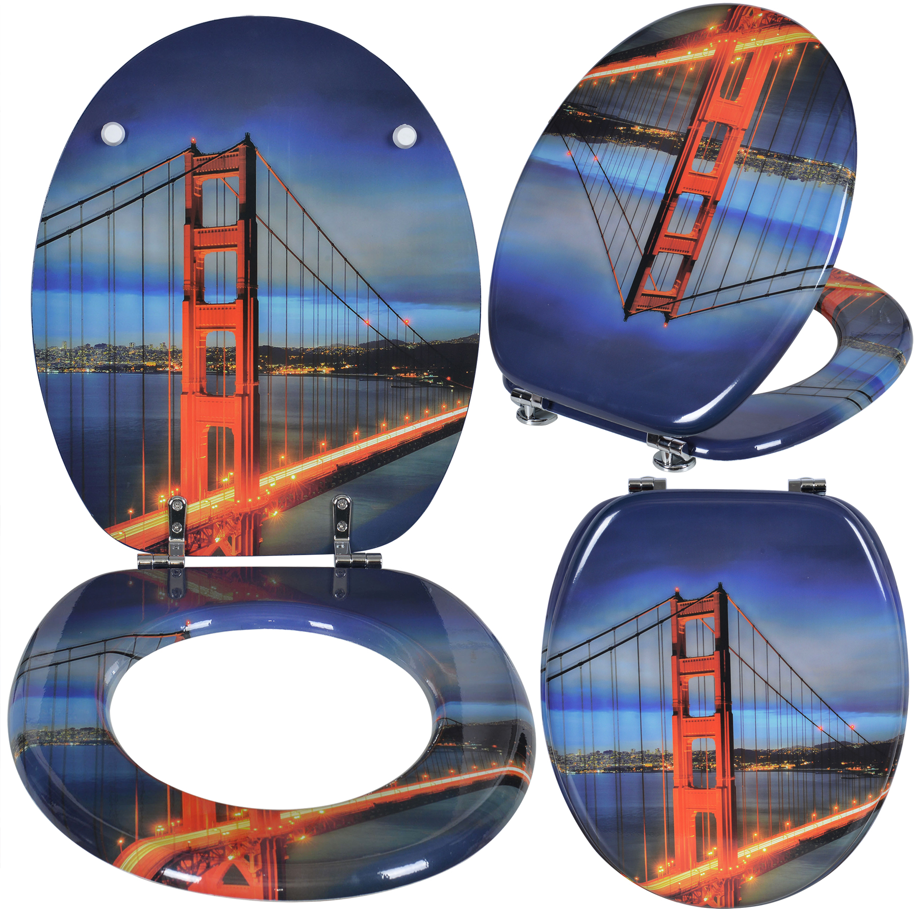 toilettensitz wc sitz klositz deckel blau mit motive toilettendeckel brille 165 ebay. Black Bedroom Furniture Sets. Home Design Ideas