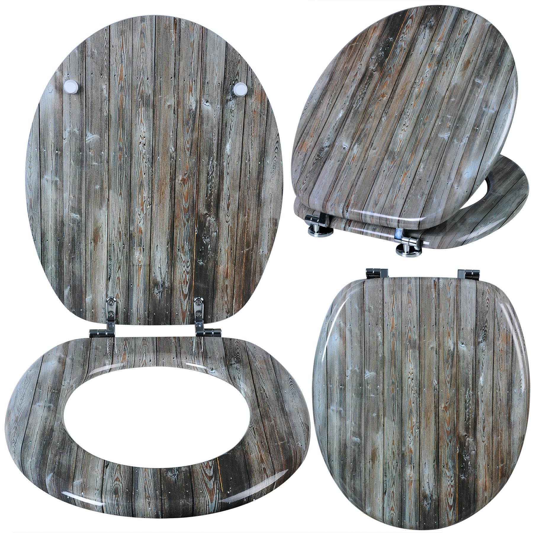 wc sitz toilettendeckel holz klodeckel wc deckel mdf toilettensitz brille 186 ebay. Black Bedroom Furniture Sets. Home Design Ideas