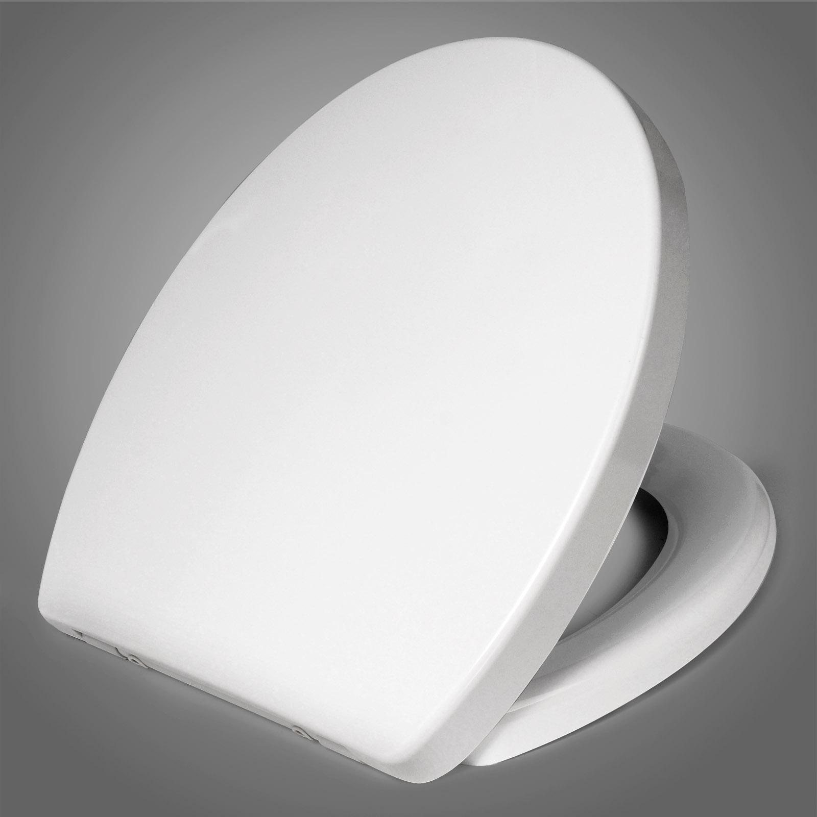 toilettensitz fast fix wc sitz mit absenkautomatik duroplast weiss ws2724 ebay. Black Bedroom Furniture Sets. Home Design Ideas