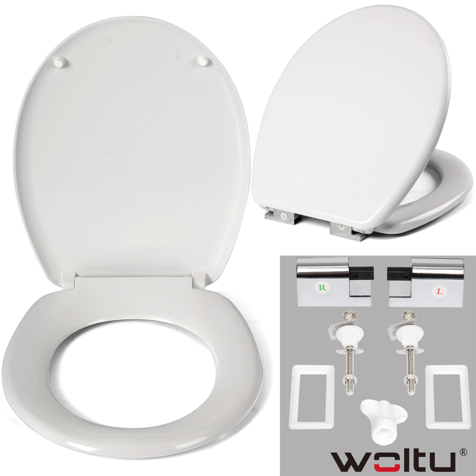 toilettensitz wc sitz deckel klodeckel mit absenkautomatik duroplast brille 660 ebay. Black Bedroom Furniture Sets. Home Design Ideas