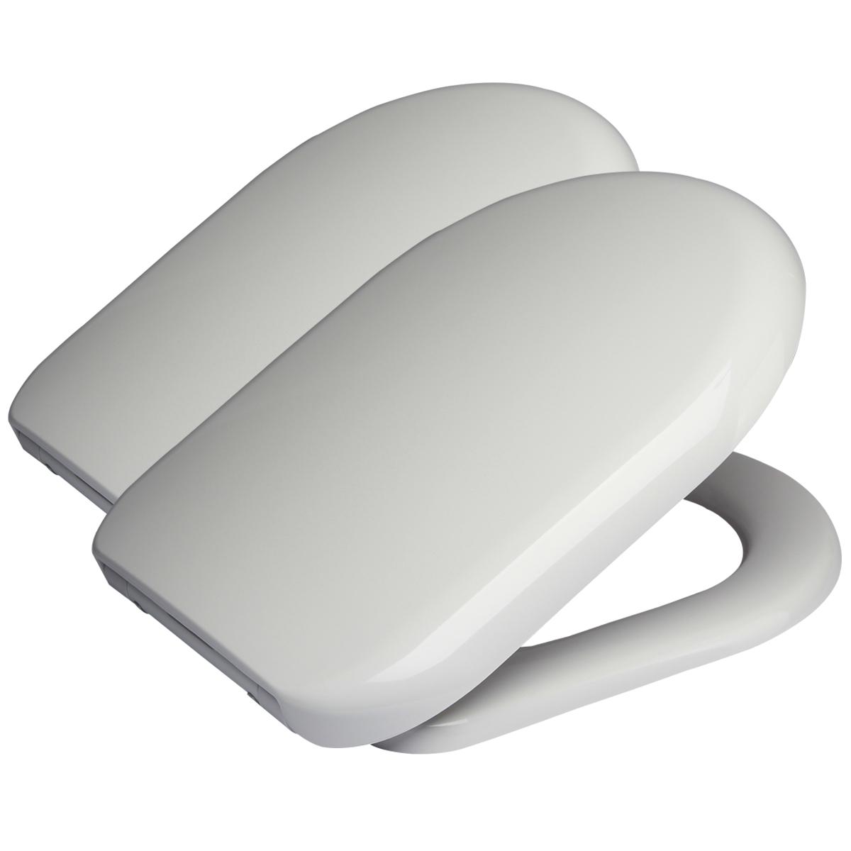 2x wc sitz klodeckel toilettensitz duroplast. Black Bedroom Furniture Sets. Home Design Ideas