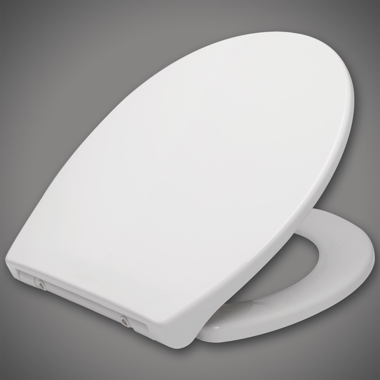 toilettensitz klodeckel wc sitz kunststoff absenkautomatik klobrille wei ws2585 ebay. Black Bedroom Furniture Sets. Home Design Ideas