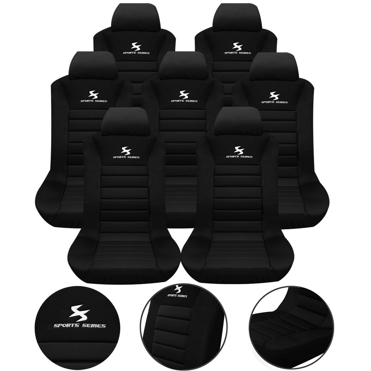 7 x auto sitzbez ge einzelbezug f r pkw van ohne seitenairbag schwarz as7254 ebay. Black Bedroom Furniture Sets. Home Design Ideas