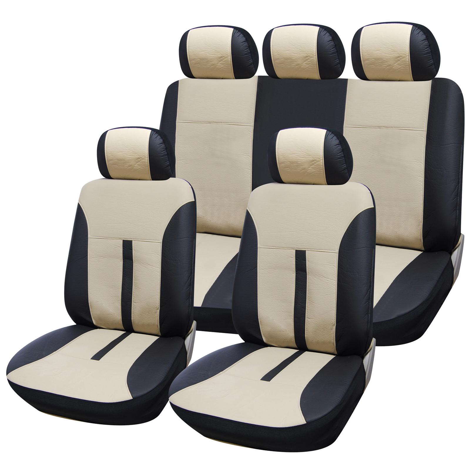 autositzbez ge schonbez ge universal auto sitzbezug schonbezug kunstleder 214 ebay. Black Bedroom Furniture Sets. Home Design Ideas