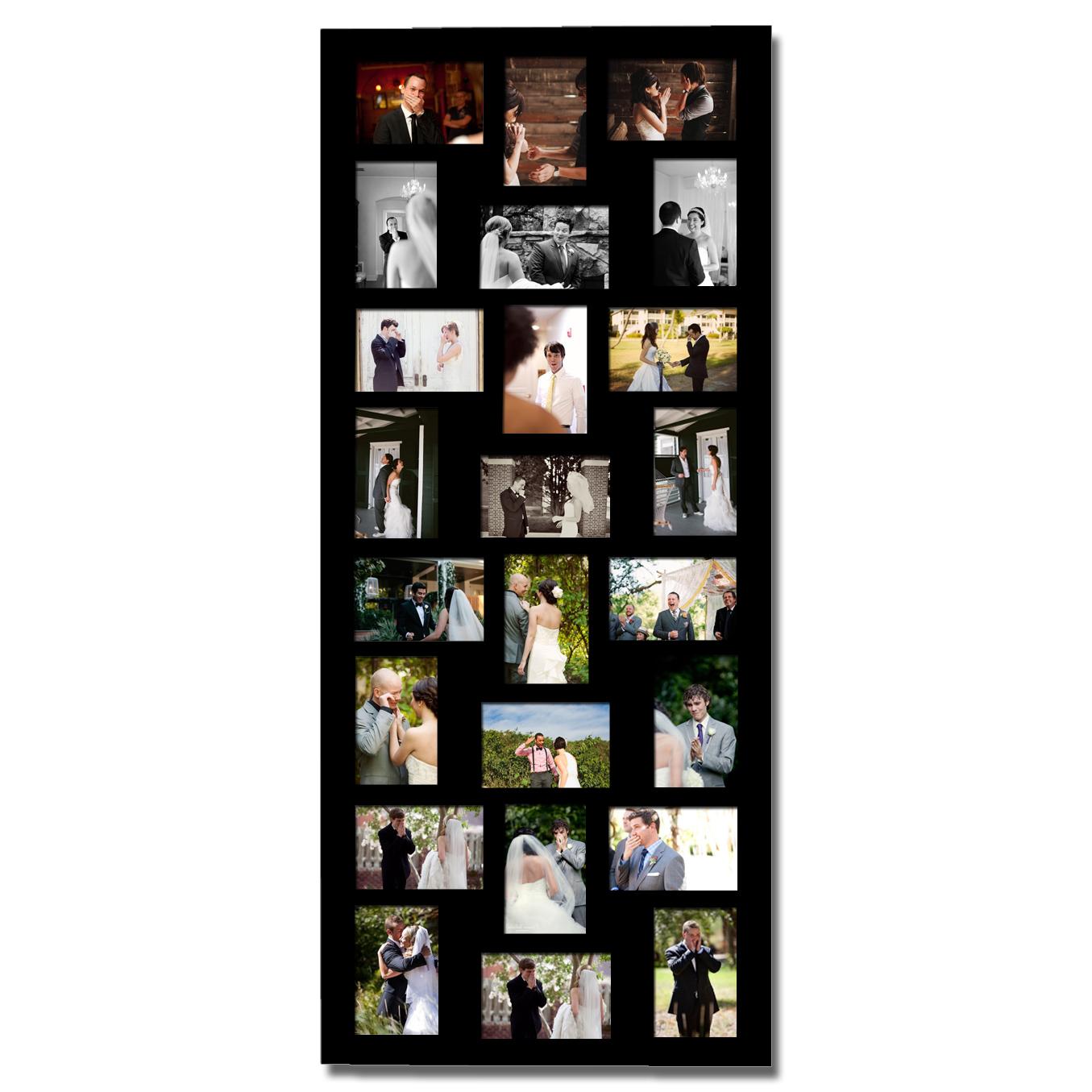 bilderrahmen fotorahmen fotogalerie collage holz rahmen 24. Black Bedroom Furniture Sets. Home Design Ideas