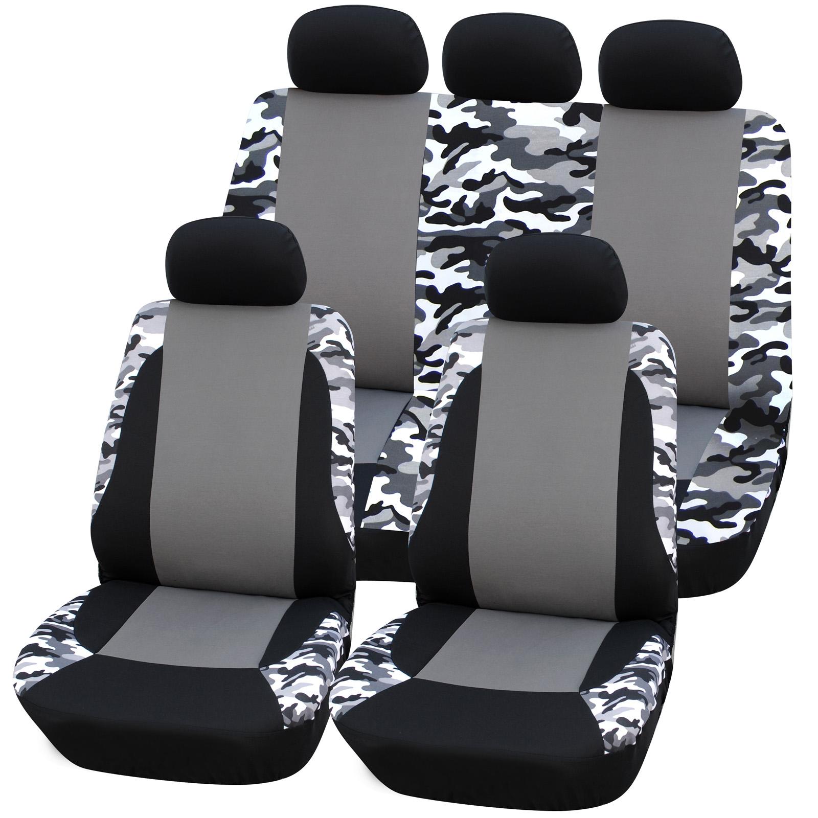 auto sitzbez ge sitzbezug schoner f r pkw ohne seitenairbag schwarz grau as7309 ebay. Black Bedroom Furniture Sets. Home Design Ideas