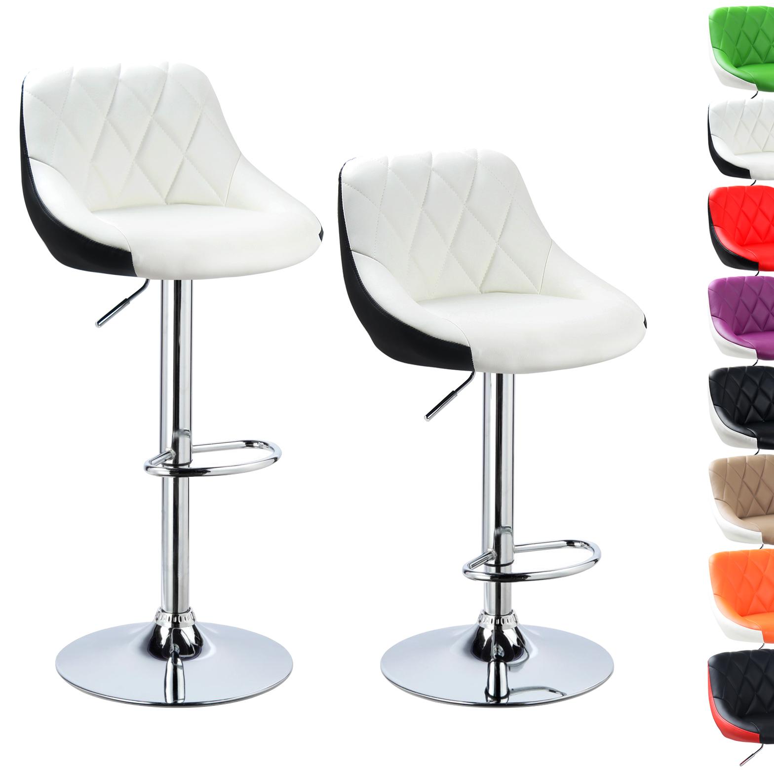 barhocker 2er set tresenhocker barstuhl kunstleder bar hocker bar stools e082 ebay. Black Bedroom Furniture Sets. Home Design Ideas