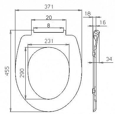 wc sitz toilettensitz toilettendeckel duroplast. Black Bedroom Furniture Sets. Home Design Ideas