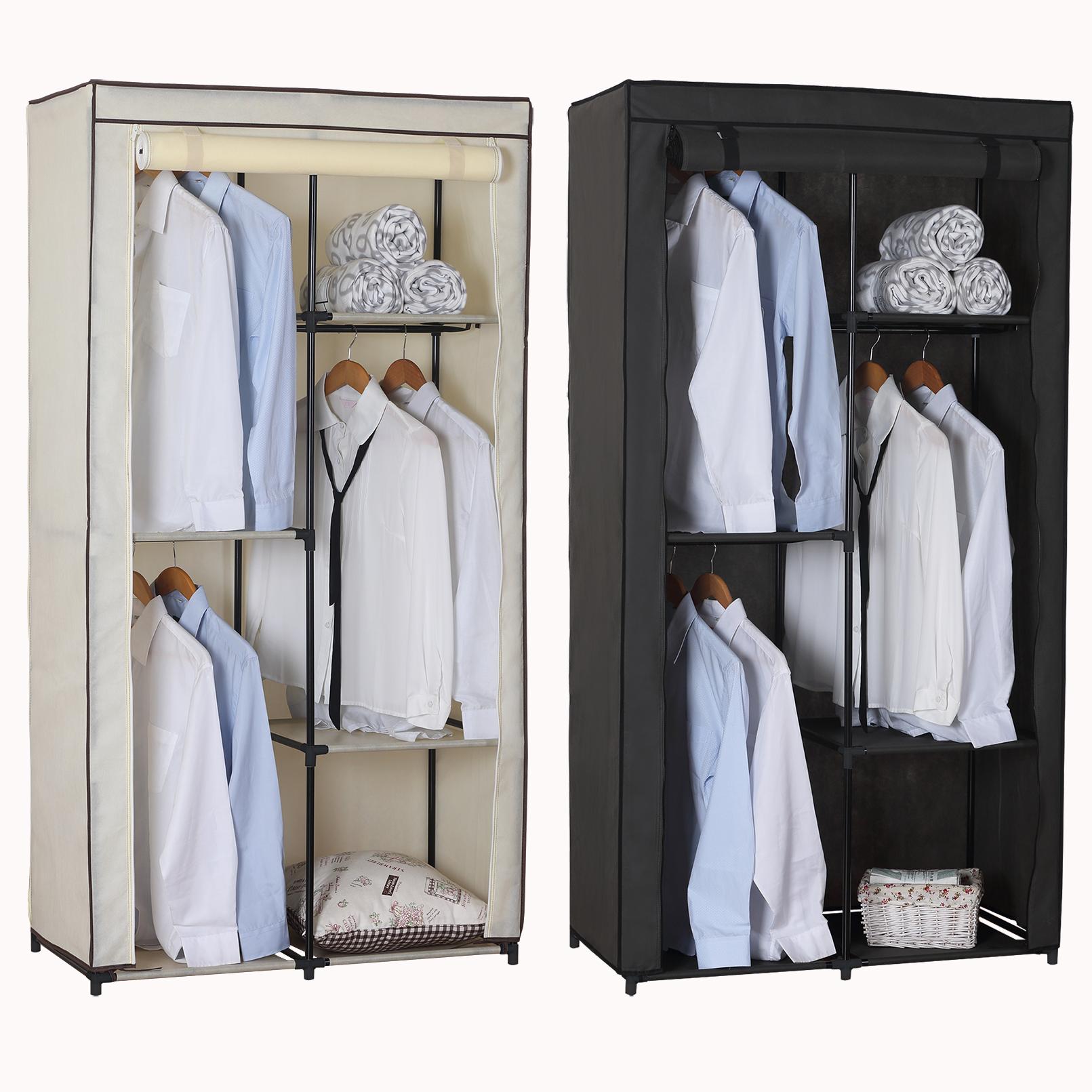 Kleiderstange Ebay: Kleiderschrank Stoff Garderobenschrank Faltschrank Mit