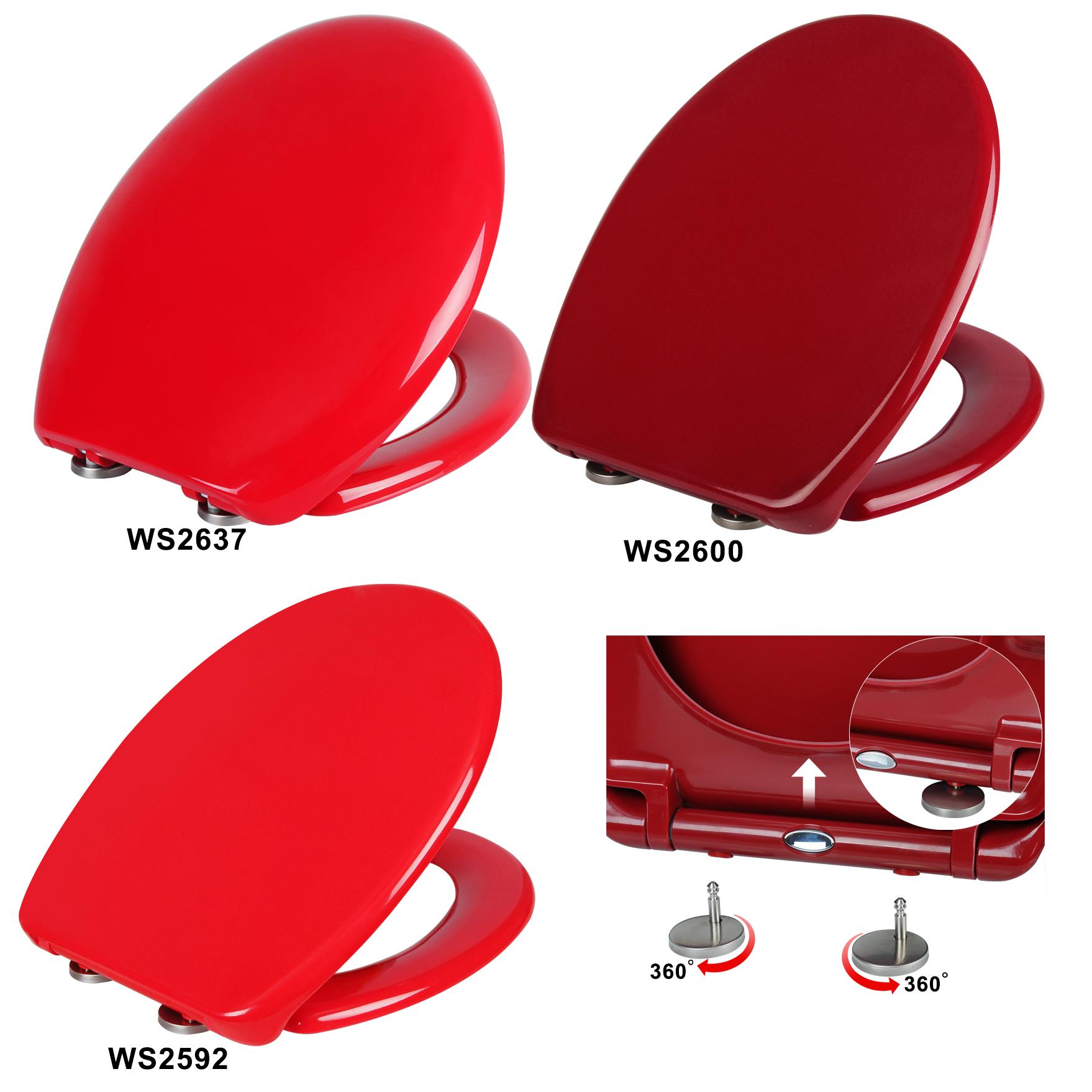 wc sitz toilettensitz deckel absenkautomatik toilettendeckel klositz rot 122 1 ebay. Black Bedroom Furniture Sets. Home Design Ideas