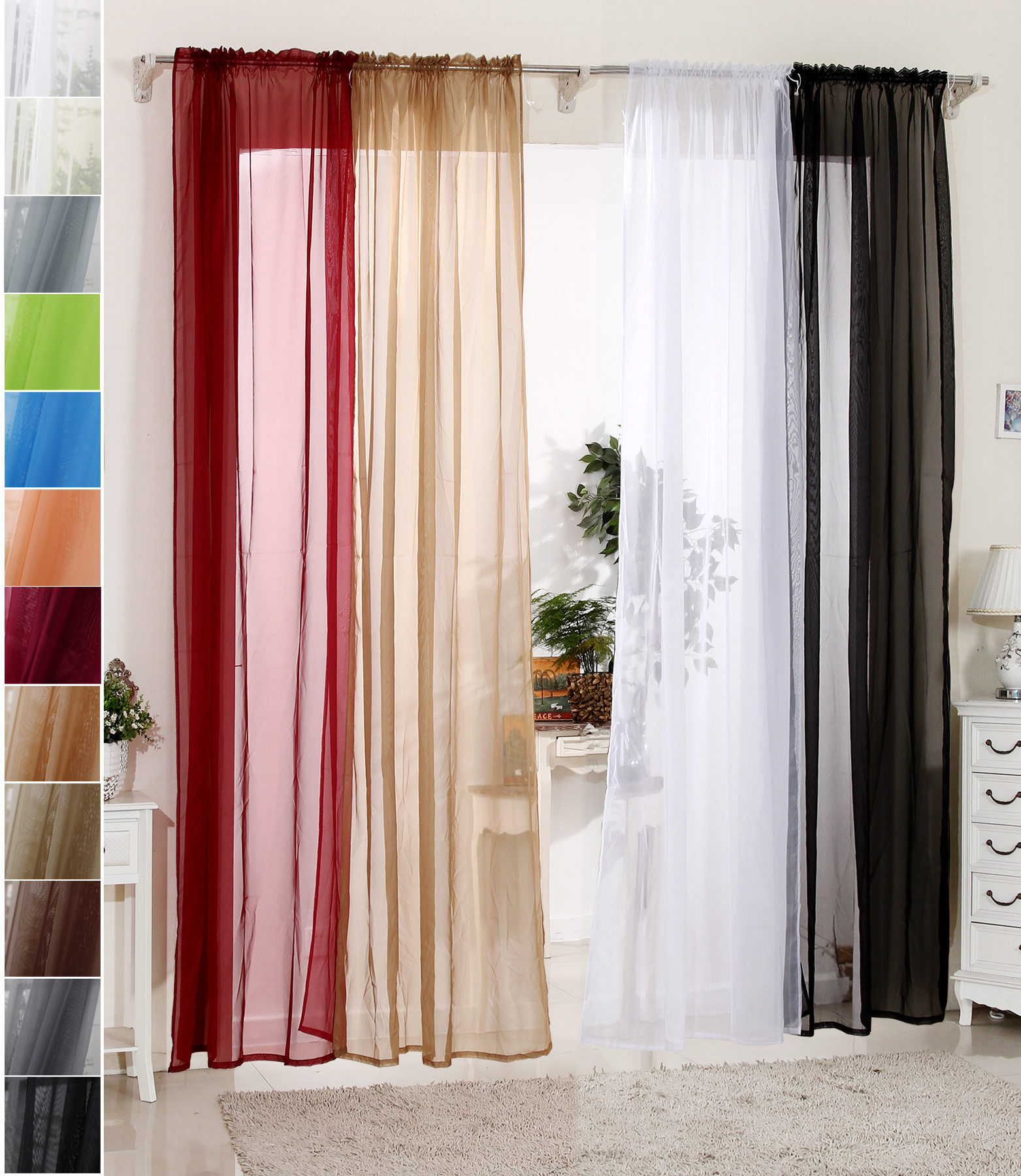 gardinen stores vorhang transparent sen schal fensterschal vorh nge voile nrw. Black Bedroom Furniture Sets. Home Design Ideas