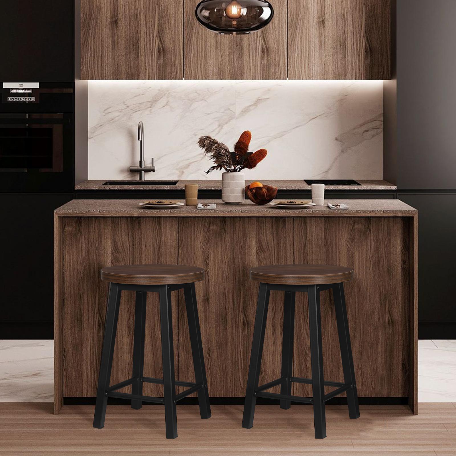 Indexbild 2 - 2 X Esszimmerstühle Küchenstühle aus Metall und Holz,Dunkelbuche BH297dc-2