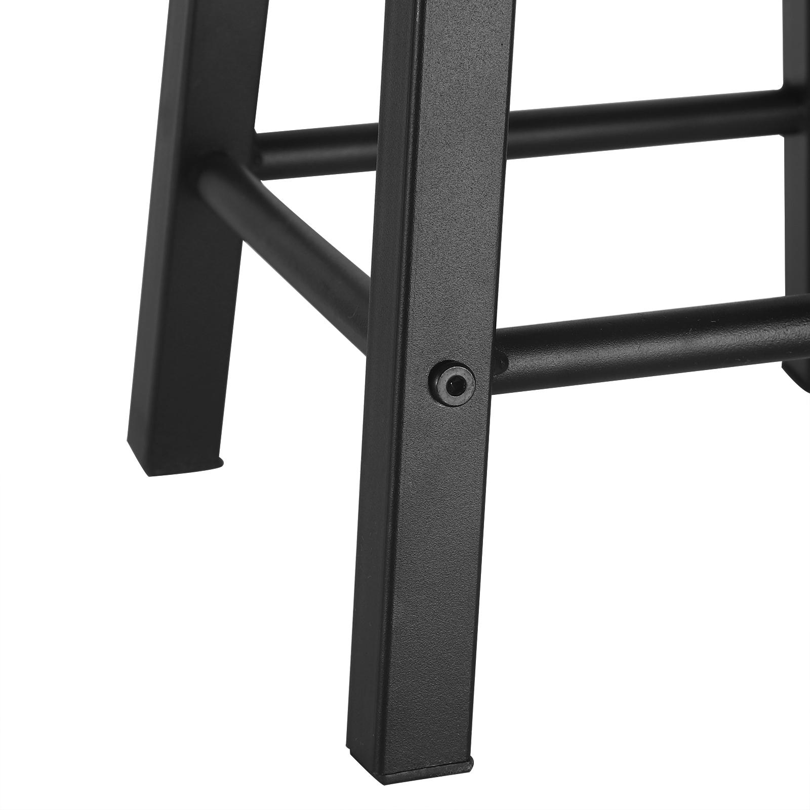 Indexbild 7 - 2 X Esszimmerstühle Küchenstühle aus Metall und Holz,Dunkelbuche BH297dc-2