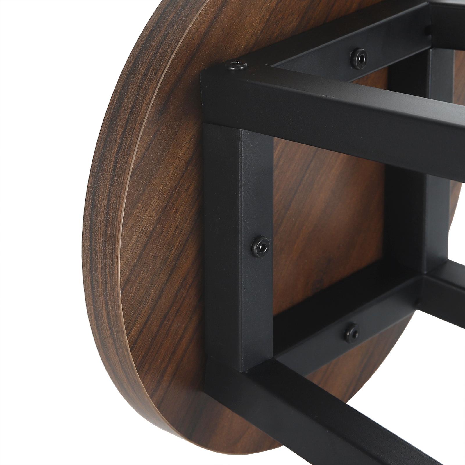 Indexbild 8 - 2 X Esszimmerstühle Küchenstühle aus Metall und Holz,Dunkelbuche BH297dc-2