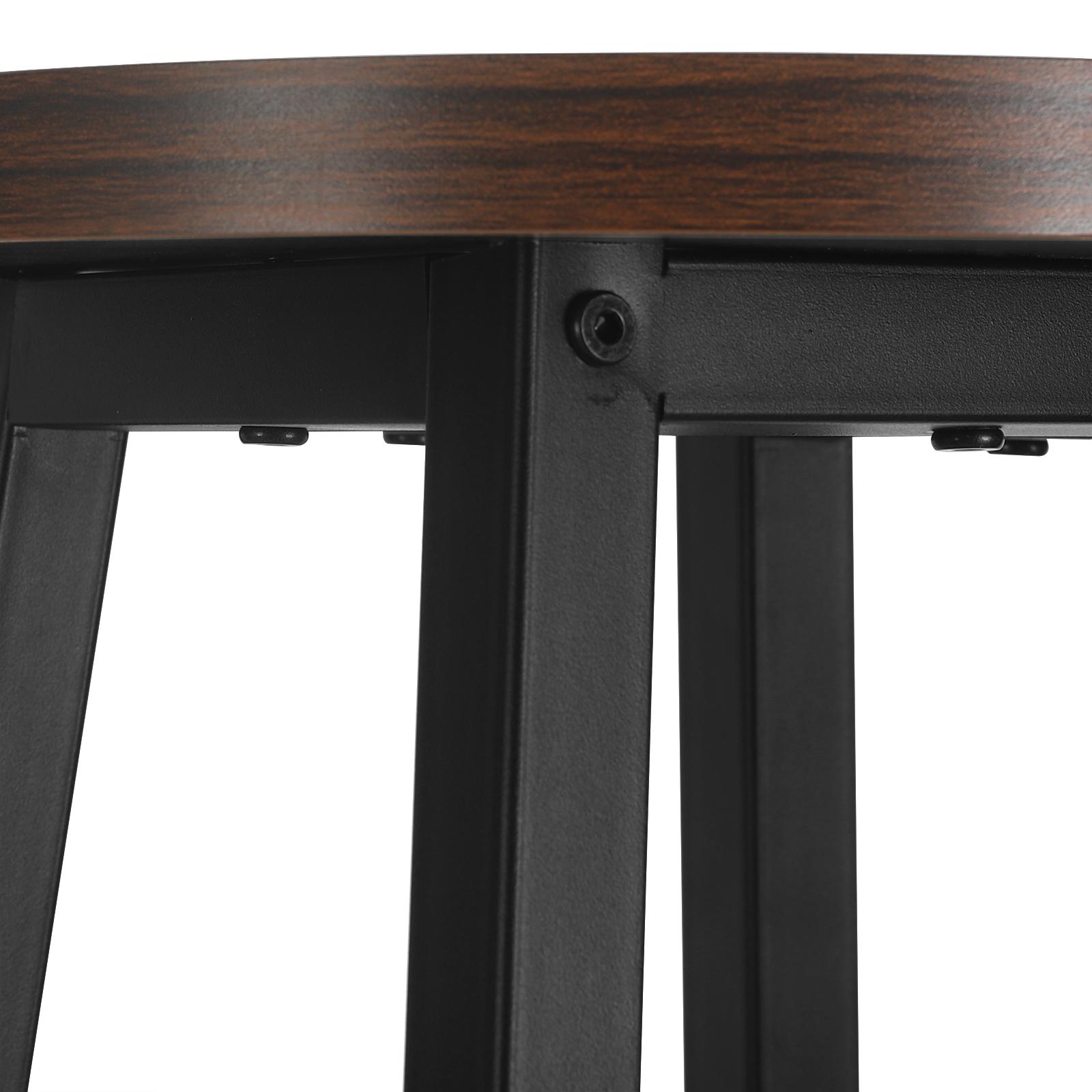 Indexbild 9 - 2 X Esszimmerstühle Küchenstühle aus Metall und Holz,Dunkelbuche BH297dc-2