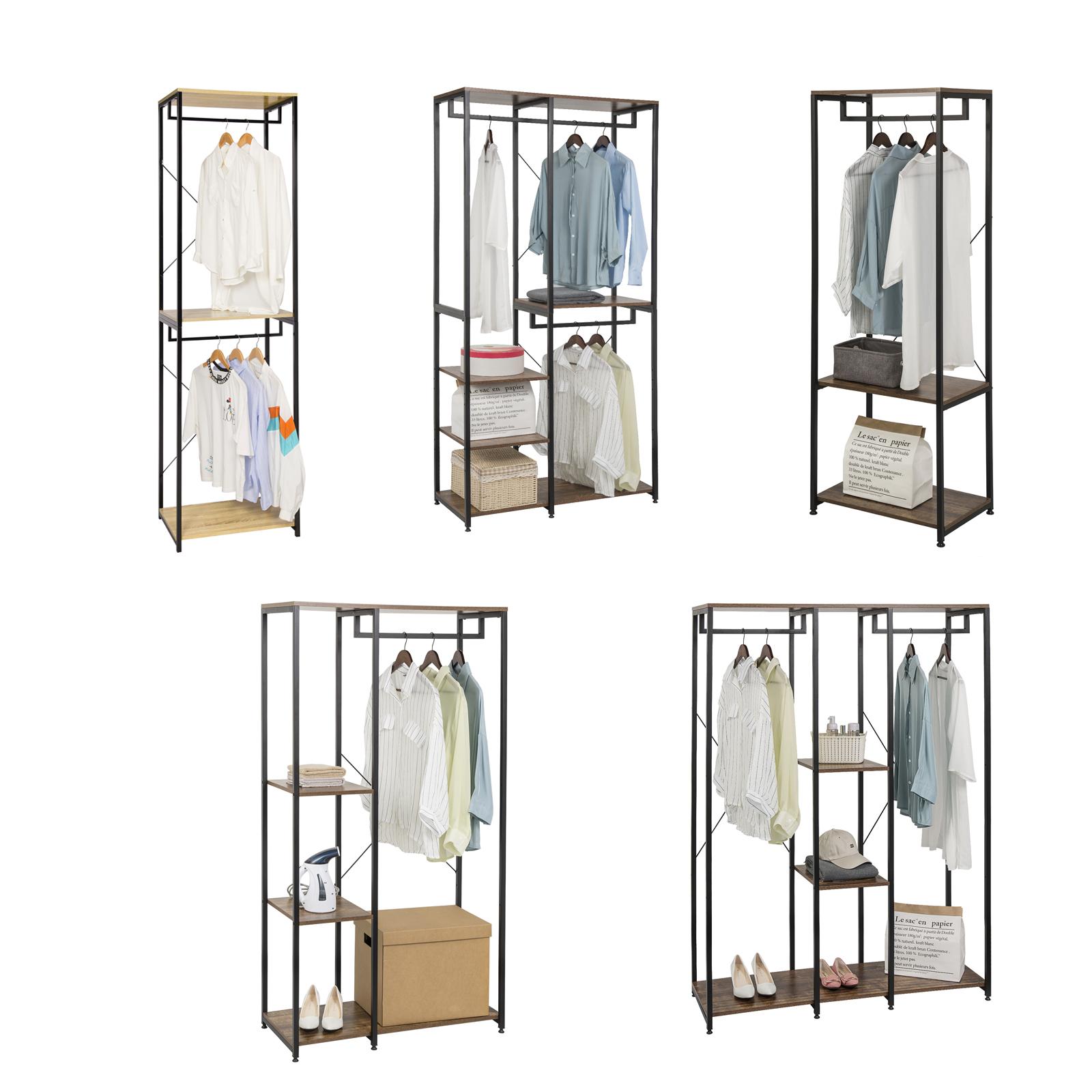 kleiderstaender garderobenstaender kleiderstange mit ablagen