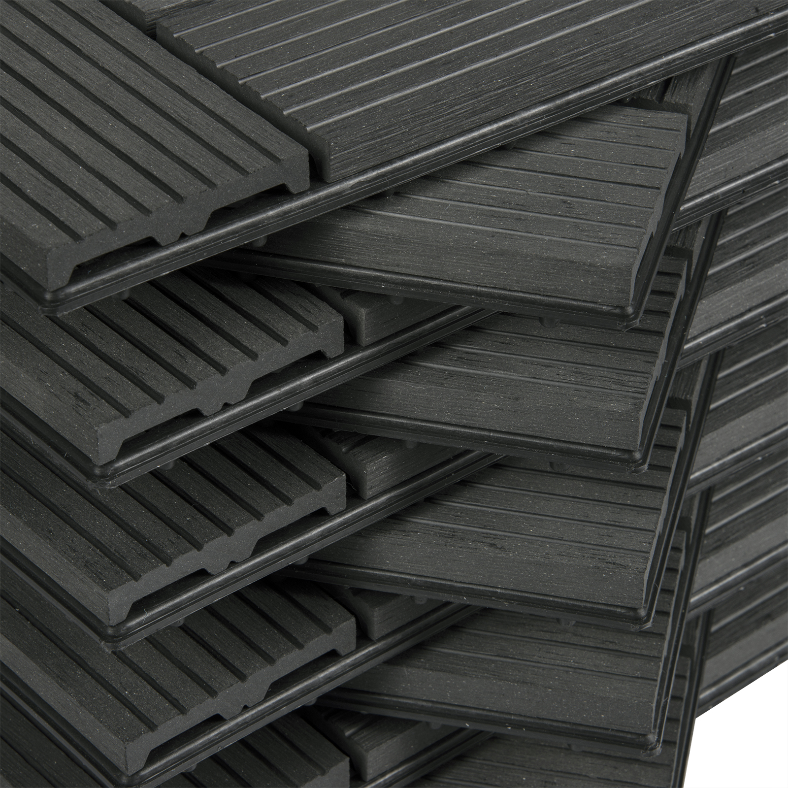 WPC Fliesen 1 2m² 30x30cm Terrassenfliesen 11 22er Set